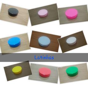 Latinha De Plástico Coloridas C/ 50 Unidades