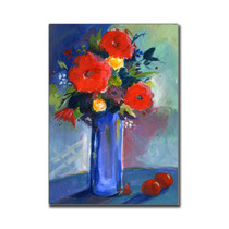 Red Flowers Canvas Art By Sheila Golden