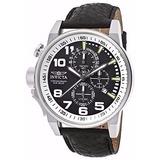 Reloj De Acero Invicta Hombres Zurdos 13053 Banda De Cuero