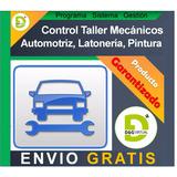 Programa Sistema Control Taller Mecánico Automotriz