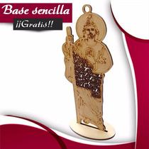San Judas Tadeo Mdf Oración 20cm Recuerdo Madera Regalo