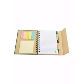 Kit Com 50 Cadernos Caneta Bloco De Notas Post It E Gravação