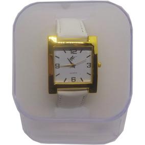 Relógio Feminino Barato Quadrado Pulseira De Couro Com Caixa
