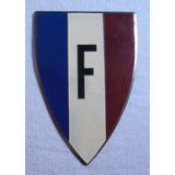 Escudo Placa Carro Emblema Esmaltada Original Letra F