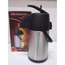 Garrafa Térmica Inox 2,2l Com Alavanca Água, Café, Chá