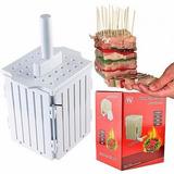 Maquina Forma 36 Espetinhos Espeto Churrasco Carne Kebab