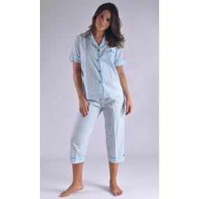 Pijama Capry Blusa Manga Corta Algodon Femenina Mujer A0813