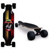 Skate Longboard Trator Abec 15 Original Rodas 100 Mm Maciça