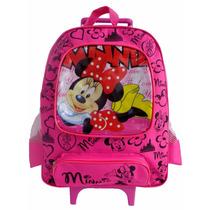 Mochila Carrinho Grande 40 Cm Minnie (rosa)