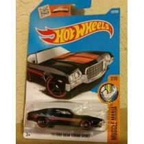 72 Ford Gran Torino Sport Color Negro Hot Wheels