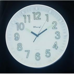 Kit 05 Relógios De Parede Brilha No Escuro Fluorescente