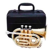 Trompete Pocket Sib Zion By Plander Tr500l Laqueado