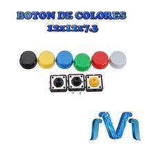 Interruptor Push Button Botones De Colores 12x12x7.3 1 Pieza