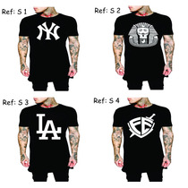 Kit 4 Camisa Swag Last Kings Tyga Camiseta Luxo Ny La Obey