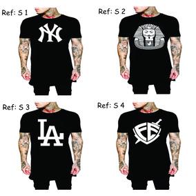 Kit 4 Camisa Swag Last Kings Tyga Camiseta Luxo Ny La Obey
