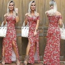 Vestido Longo Estampado Bojo Viscolycra Decote Promoção !!!