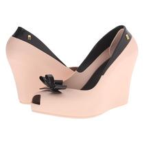 Sapato De Salto Melissa Queen Wedge, Salto 10cm X31624