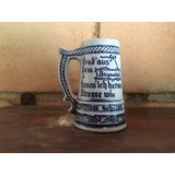 Mini Caneca Porcelana - Ceramarte - Perfeita - Azul E Branco