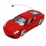 Ferrari De Controle Remoto Vermelha A Pilha Leds