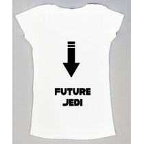 B Playera Embarazada Star Wars Future Jedi ¡ Personalizada !