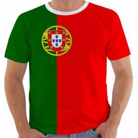 Camisa Camiseta Baby Look Regata Bandeira Portugal Modelo 1