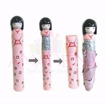 Paraguas Con Forma De Muñeca Japonesa Geisha Regalo Original