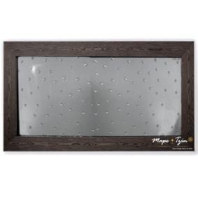 Espejo Decorativo Sala-comedor-gota De Agua Marco De Madera