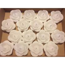 Velas Decorativas Flutuantes - Rosa Branca - 100 Unidades