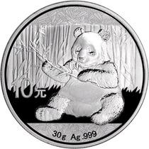 1 Onza De Plata Fina .999 China 2017 Silver Panda Sc