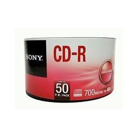 Disco Compacto Sony Cd-r 700mb/mo 1x-48x Campana 50pzs.
