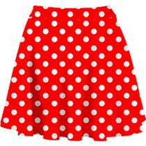 Saia Pinup Rodada - Bolinhas Vermelha (pin Up Pinup Pin-up)