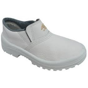 Sapato De Segurança Em Couro Branco Ca-28629