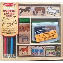 Juegos De Madera Melissa Y Doug Horse Stable Stamp Set