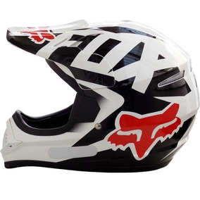 Casco Fox Vf1 Motocross Enduro Atv Blanco Cross 17´ Fasmotos