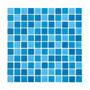 Caja 22 Pzs Azulejo Mosaico Veneciano Malla Azul Combinada