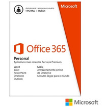 Office 365 Personal P/ 1 Pc+1tablet+1 Smartphone Midia(card)