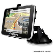 Gps Automotivo Discovery Tela Lcd 4.3 Touch Mp3 Radar Slim