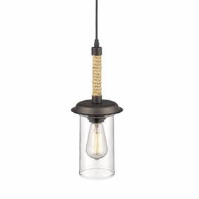 Lámpara Colgante Vintage Cristal Moderna Elegante Industrial
