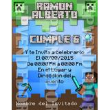 Tarjetas De Invitacion Minecraft - Epvendedor