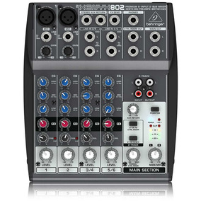 Mesa De Som Mixer Behringer Xenyx 802 C/ Phantom Power