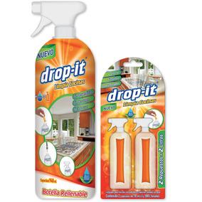 Limpia Cocinas Drop-it (2 Repuestos+botella) Caja Con 12 Pz
