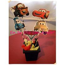 Centro De Mesa Infantil! Cars Minions Peppa Callie Monster