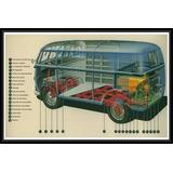 Combi Vw Interior Volkswagen Autos - Poster Lámina 45x30 Cm.
