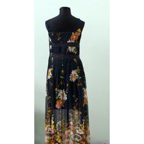 Elegante Y Original Vestido Floreado Hippie Chic - Envios