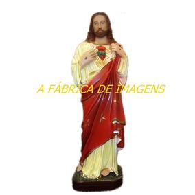 Imagem Jesus Cristo Sagrado Coração Estatua 20cm Escultura