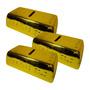 Conjunto 3 Cofres Barra De Ouro Em Cerâmica - Dclub