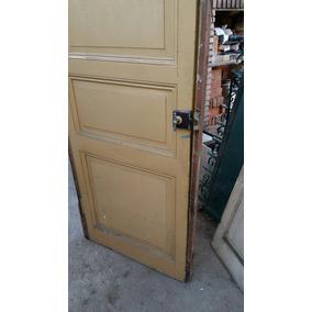 Puerta D 1 Hoja Antigua Ciega Madera 2,55 Mts X 0,82 Ctm