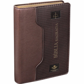 Biblia Sagrada Almeira Revista E Corrigida Capa Marrom C Bol