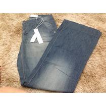Calça Jeans Maria Valentina Estilo Pantalona Tamanho 40