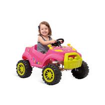 Smart Car Rosa Carrinho Passeio Bebê Criança Empurrar Pedal